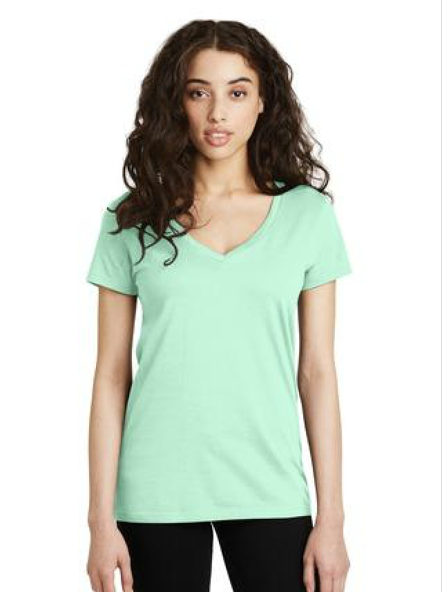 Alternative Legacy V-Neck T-Shirt in seafoam green.