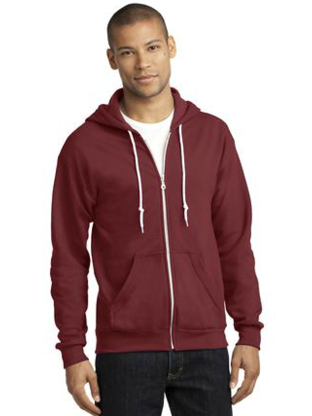 Anvil Full-Zip Hooded Sweatshirt. Available in many colors. Call for a quote!