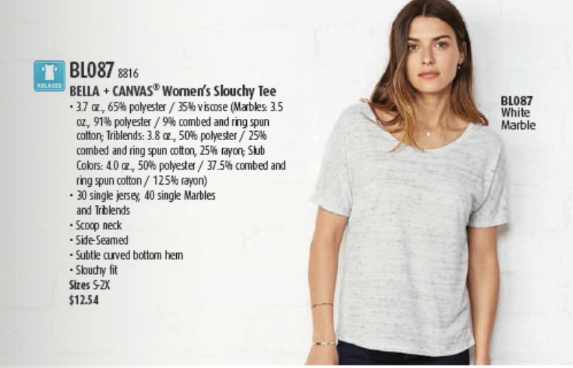 Heathered Bella + Canvas women's slouchy tee