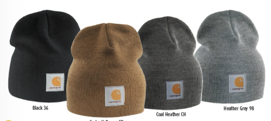 Carhartt Acrylic Knit Hat available in 4 colors