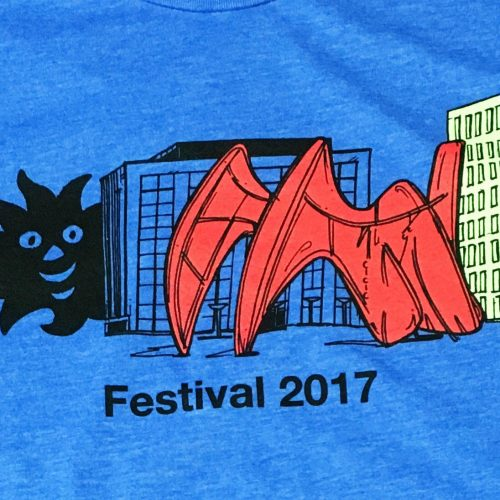 festival 2018 blue t-shirt with black, red and yellow logo design on MarkIt Merchandise's blog