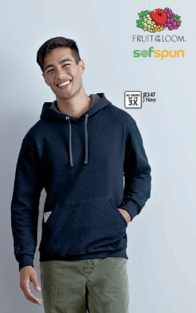 Fruit of the Loom SofSpun Hooded Sweatshirt, call MarkIt Merchandise for a quote!