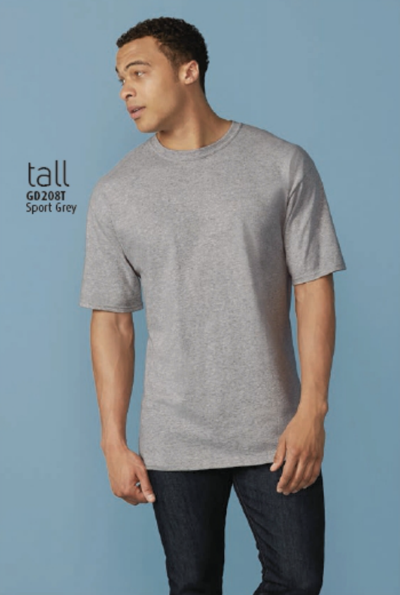 Gildan Light Gray Ultra Cotton Tall T-Shirt