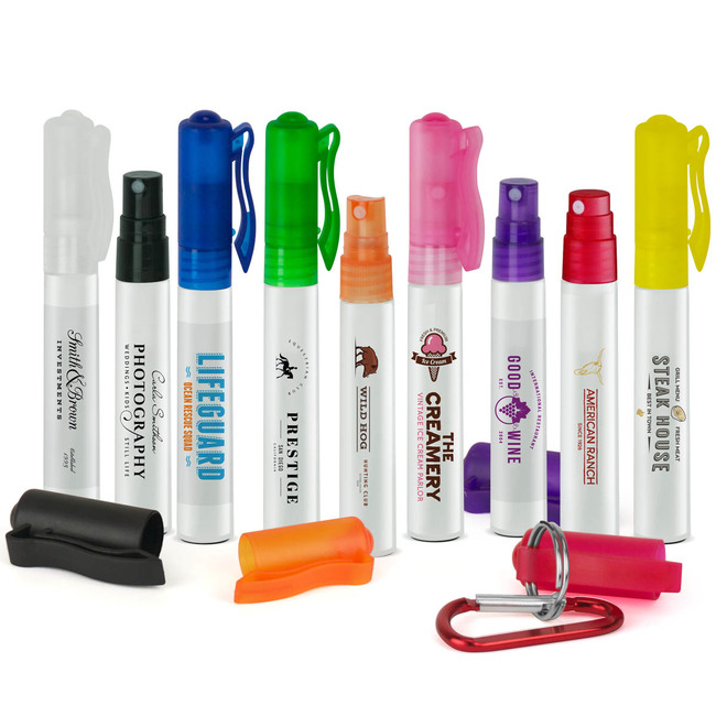 Insect Repellent Pen Sprayer available in different colors.