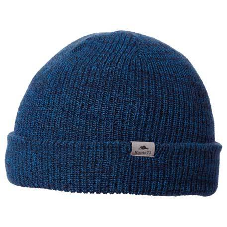 Dark blue knit cap, available in different colors.