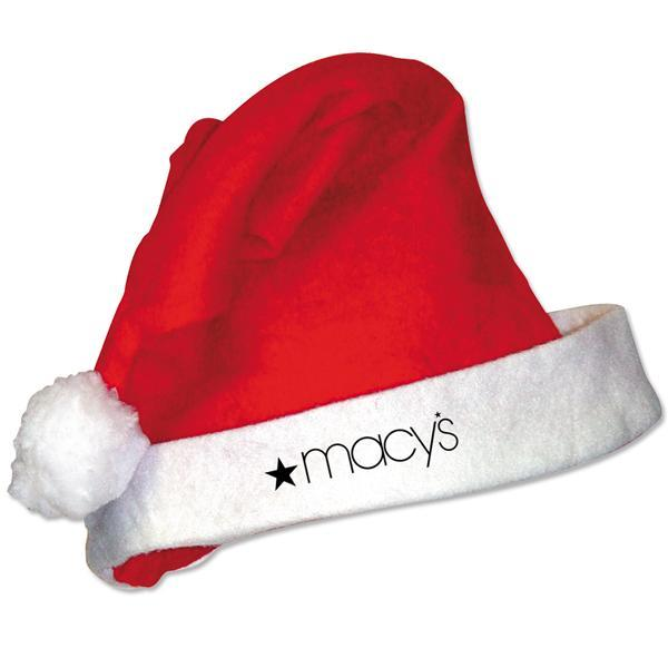 Santa Hat with one color logo. Call MarkIt Merchandise for a quote!