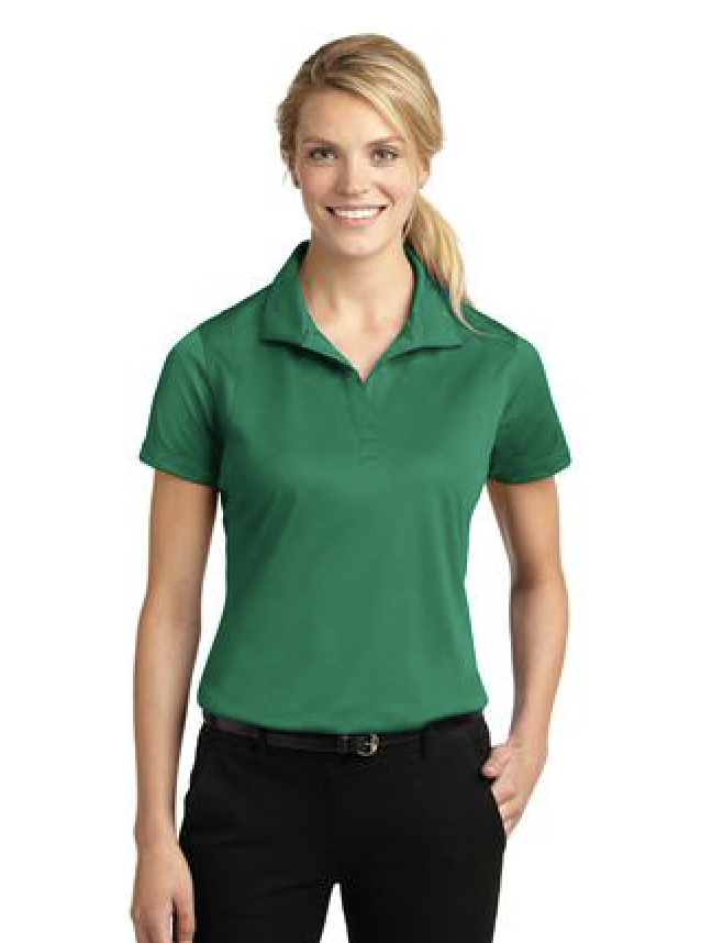 Sport-Tek ladies micropique sport-wicking polo. Featured in green.