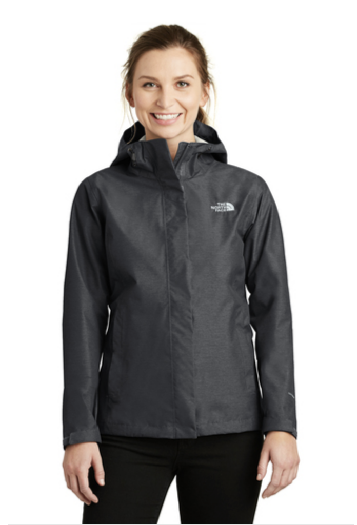 The North Face Ladies DryVent Rain Jacket in black, available in a few colors.