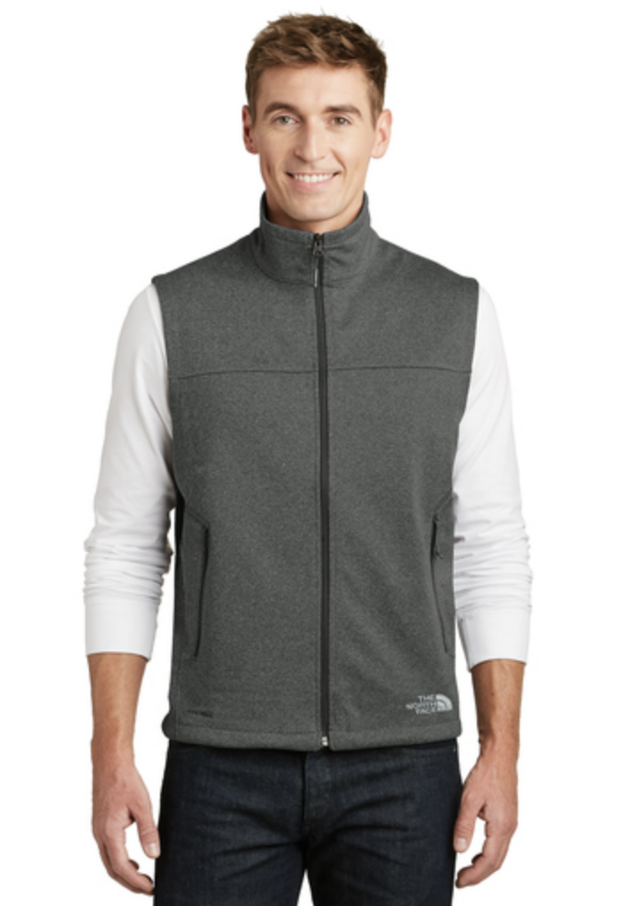 The North Face Ridgeline Soft Shell Vest, available in dark gray.