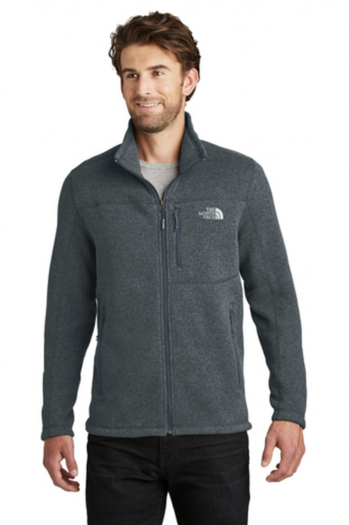 The North Face Sweater Fleece Jacket, available in dark gray.