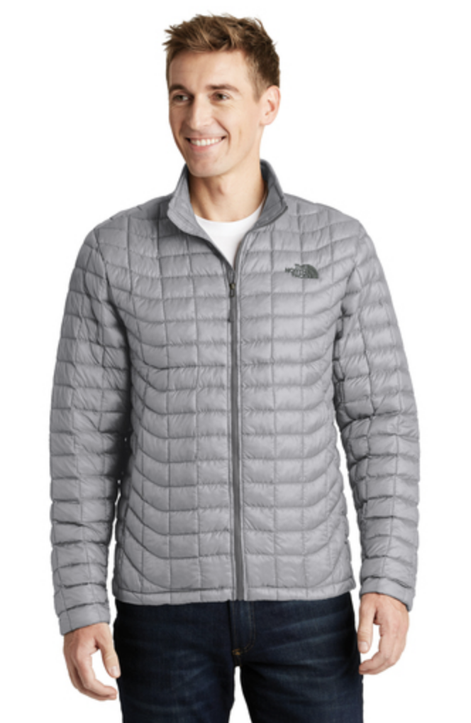 The North Face ThermoBall Trekker Jacket. Light gray.