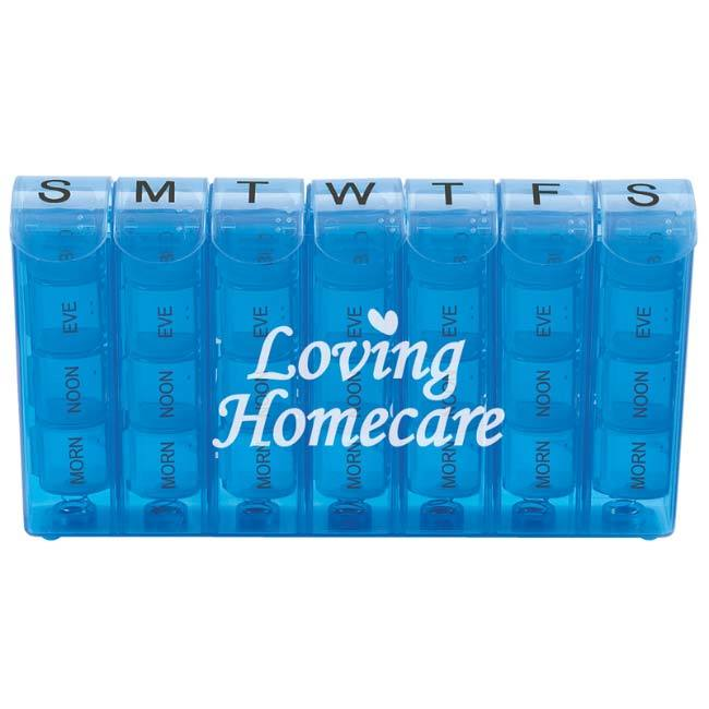 <b>Spring Action 28-Compartment Pill Box</b>