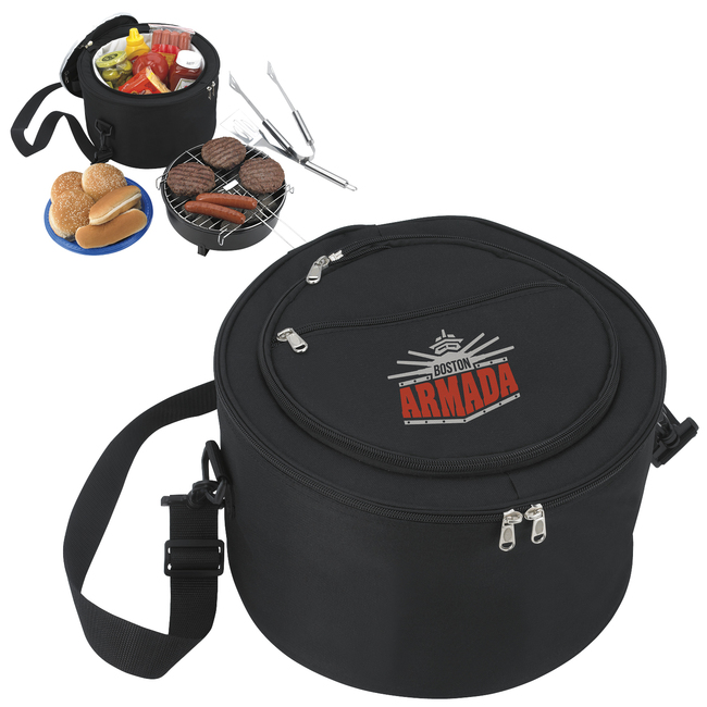 <b>Portable Barbecue and Cooler Bag</b>