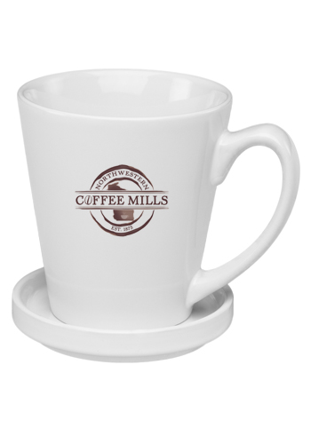 <b>Glossy Ceramic Latte Mug with Ceramic Coaster</b>
