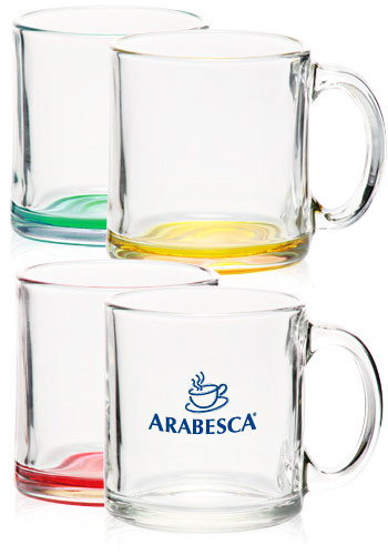 <b>Libbey Clear Glass Coffee Mugs</b>