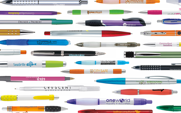 2018 Pen Banner featuring pens from BIC, and available at MarkIt Merchandise.
