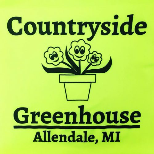 Countryside Greenhouse printed at MarkIt Merchandise