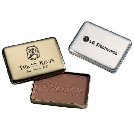 Custom Chocolate in Metal Tin