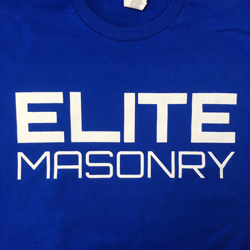 Elite Masonry Screen Printed T-Shirts, printed at www.markitmerchandise.com