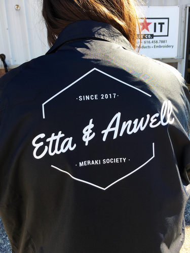 Etta and Anwell Jackets, printed at MarkIt Merchandise