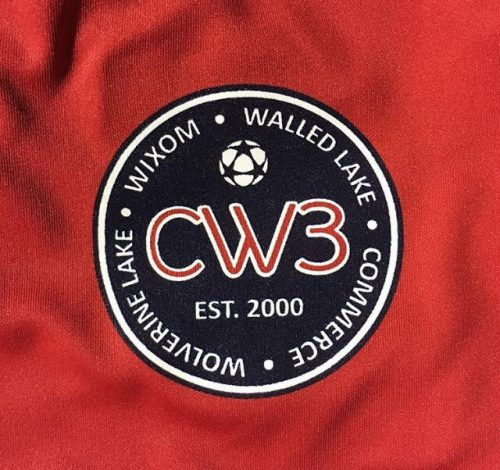 Red CW3 Soccer Screen Printed Jerseys